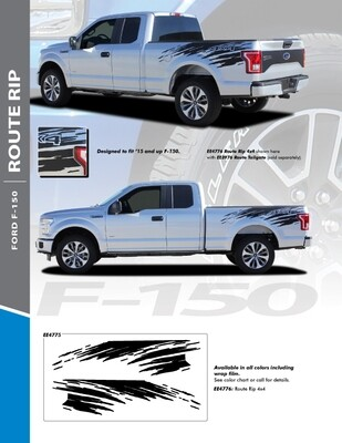 2015 - Up Ford F150 Bed Side Route Rip Stripes