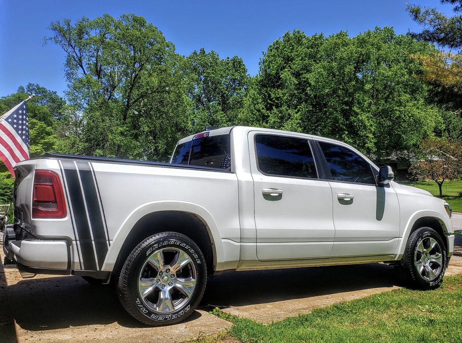 2019 - Up Dodge Ram Bedside Tail Bumblebee Stripes