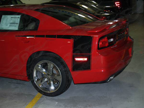 2011 - 2014 Dodge Charger Super Bee Style Quarter Panel Stripe Kit