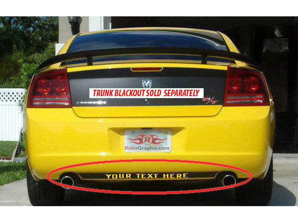 2006 - 2010 Charger Rear Fascia Blackout Kits
