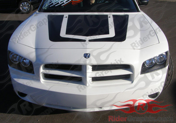 2006 - 2010 Charger Factory Style Hockey Hood Decal Kit