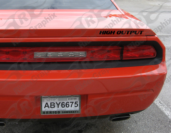2008 - Up Dodge Challenger Spoiler Text Decal Kit