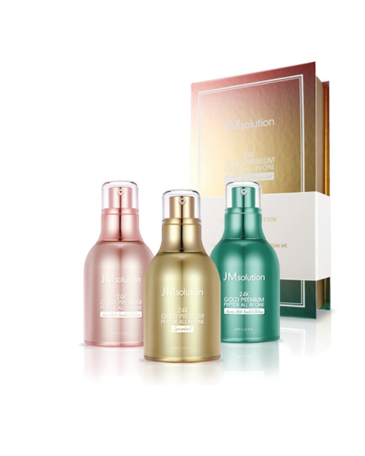 JM SOLUTION 24K Gold Premium Peptide All in One Set