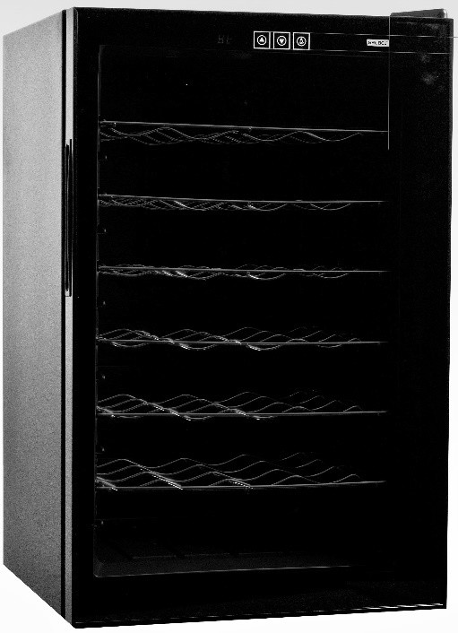 Grubel Wine Cabinet - 28 bottles - Single Temperature (GWC-TP28BK)