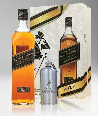 Johnnie Walker 'Black Label 12 Years Old' Blended Scotch Whisky (Limited Edition Gift Box with a Flask)