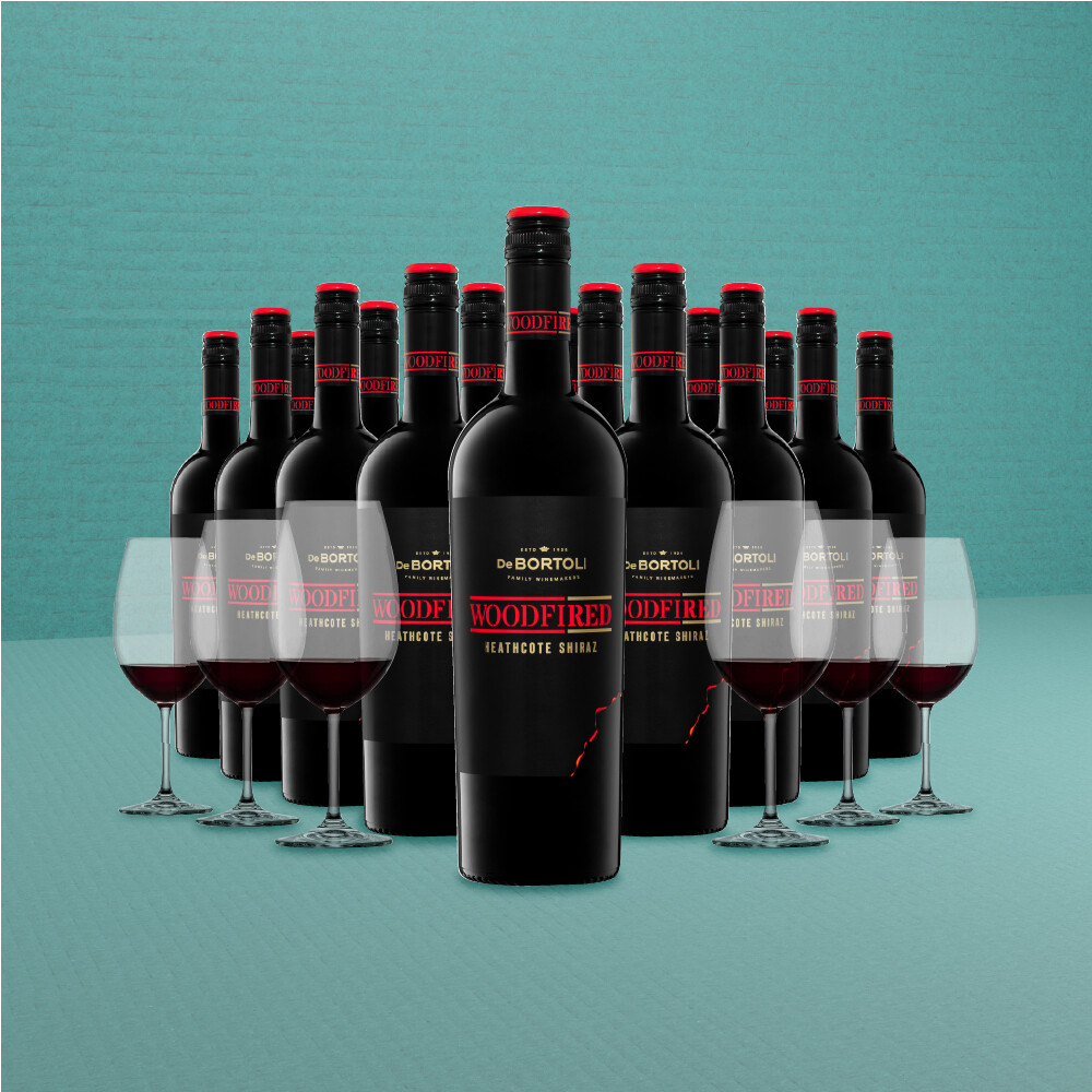 [Free Glasses] De Bortoli 'Woodfired' Heathcote Shiraz 18 Bottles Pack