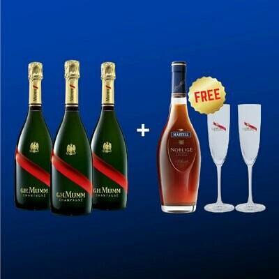 [Free Noblige Cognac+ Mumm Glasses] Mumm Party Pack II