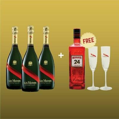 [Free Beefeater Gin+ Mumm Glasses] Mumm Party Pack I