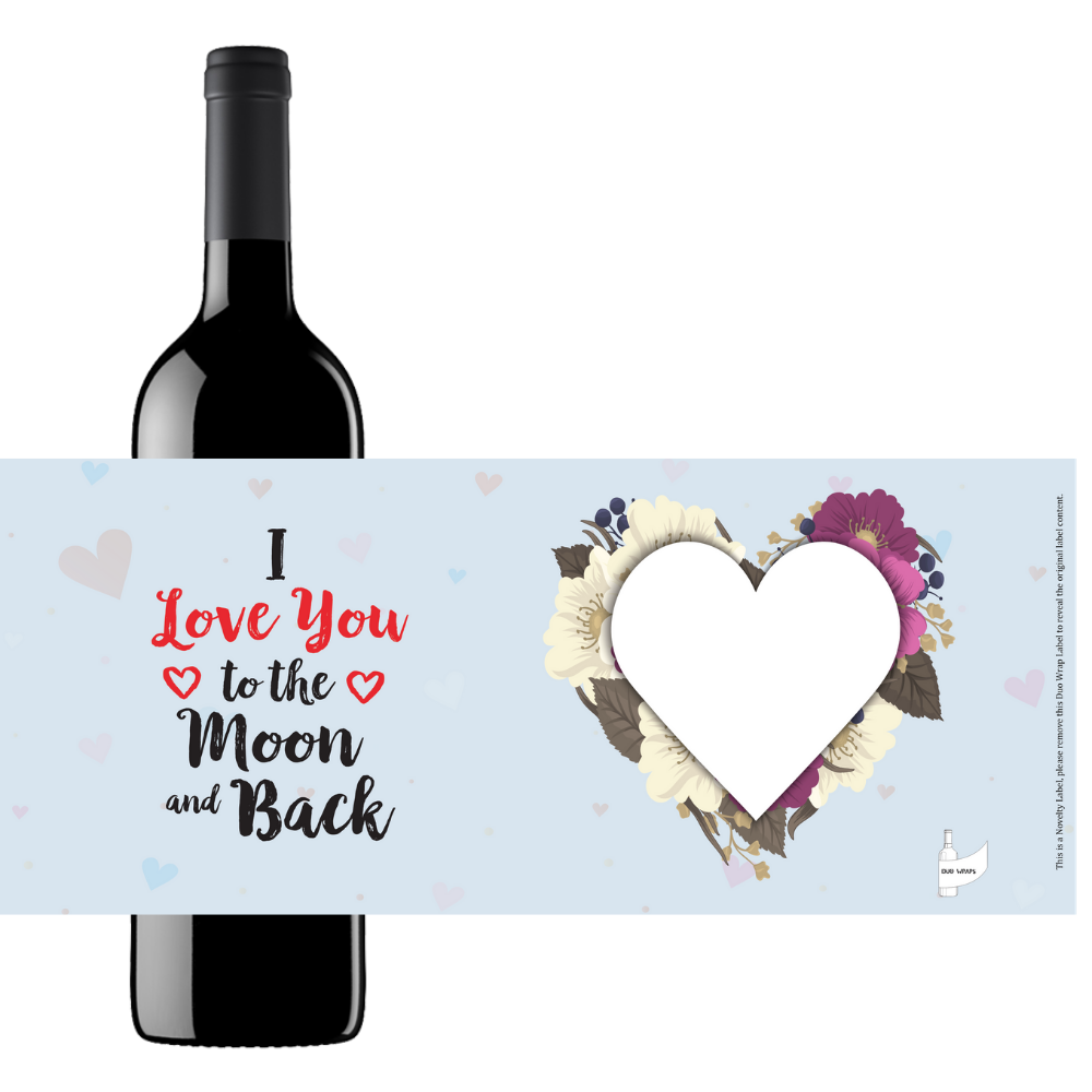 Duo Wraps Wine Greeting Card - I Love You