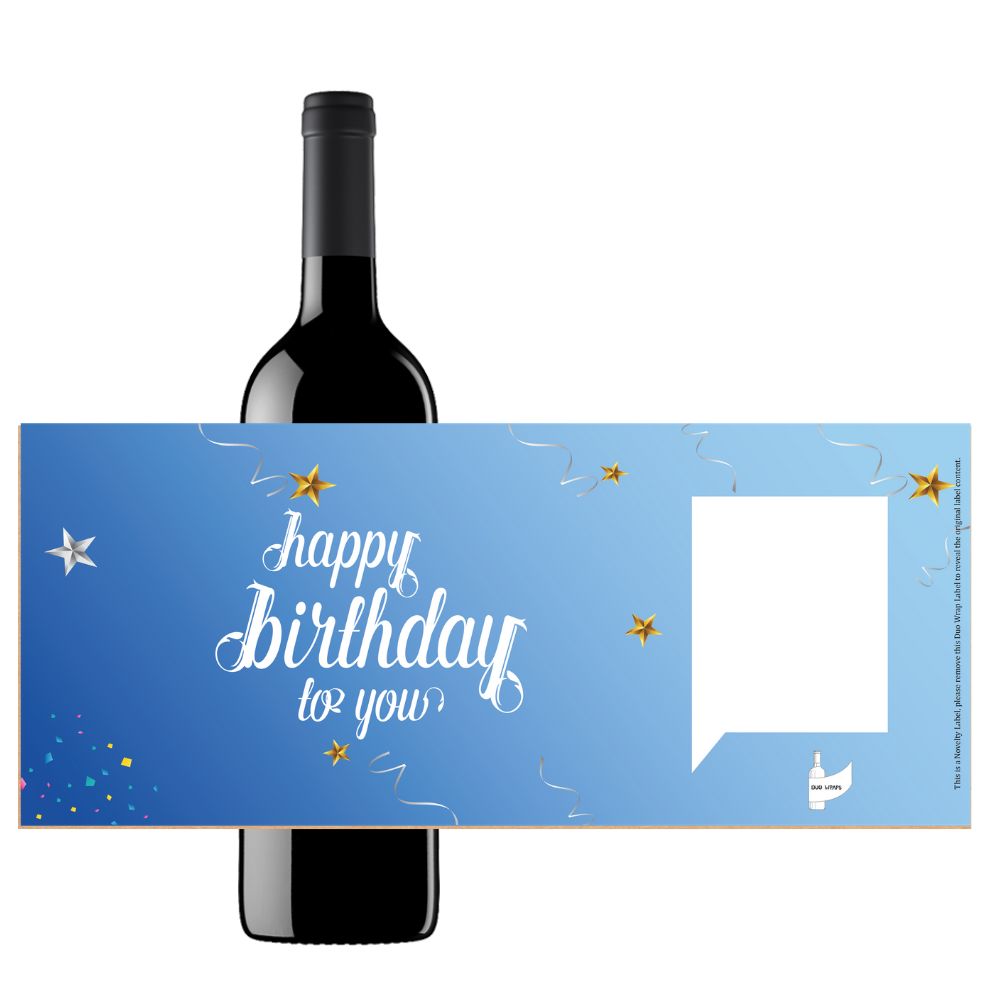 Duo Wraps Wine Greeting Card - Happy Birthday