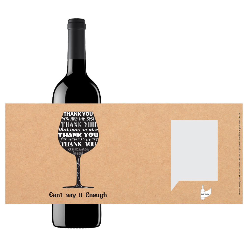 Duo Wraps Wine Greeting Card - Thank You