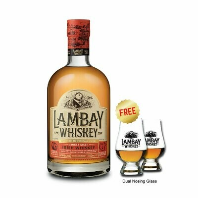 (Free Nosing Glasses) Lambay 'Single Malt' Irish Whiskey