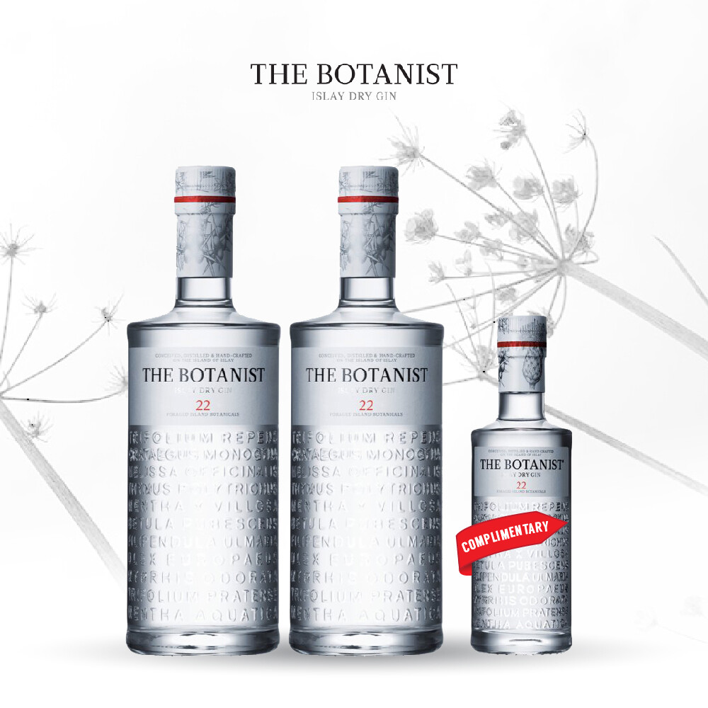 (Free 200ml Bottle) The Botanist Islay Dry Gin Pack