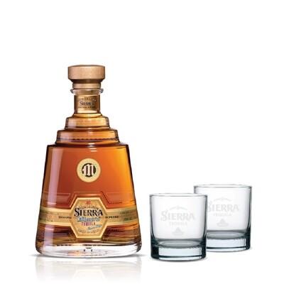 (Free 2 Rock Glasses) Sierra Milenario 'Extra Anejo' Tequila