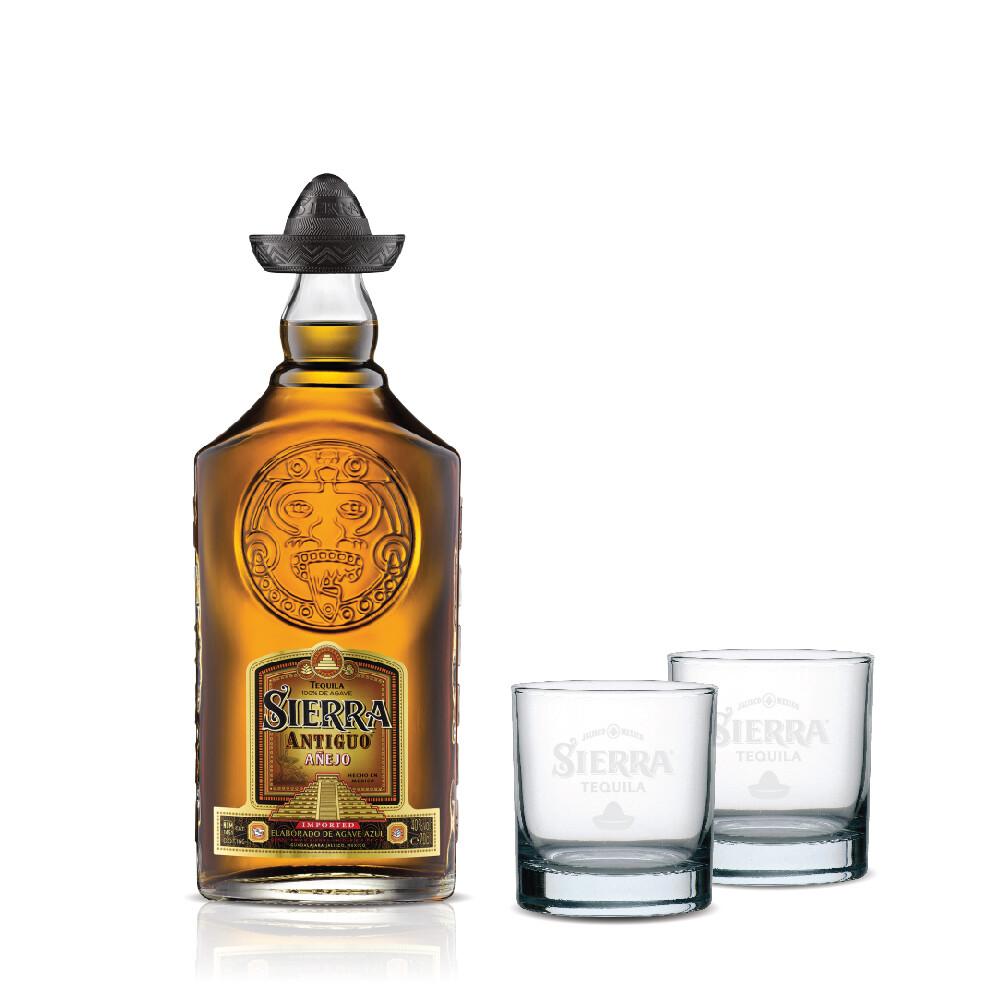 (Free 2 Rock Glasses) Sierra 'Antiguo Anejo' Tequila