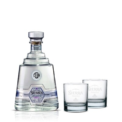 (Free 2 Rock Glasses) Sierra Milenario 'Blanco' Tequila