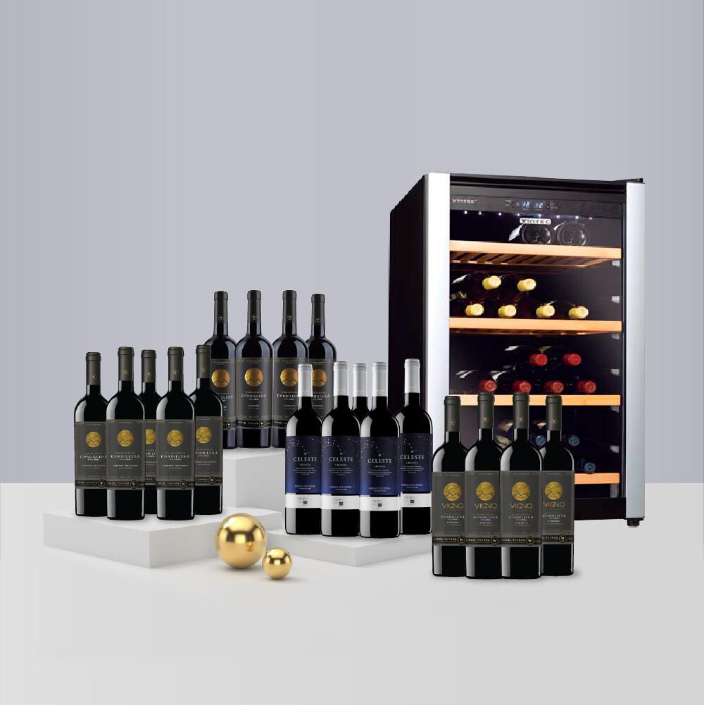 Vintec 'Allure series' Wine Cabinet - Free 18 Btls of Wines