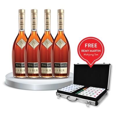 (Free Remy Martin Mahjong) Remy Martin 'Club' Cognac 4 bottle Bundle