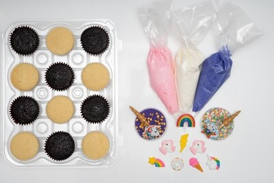 Unicorn Theme DIY Cupcake Decorating Kit