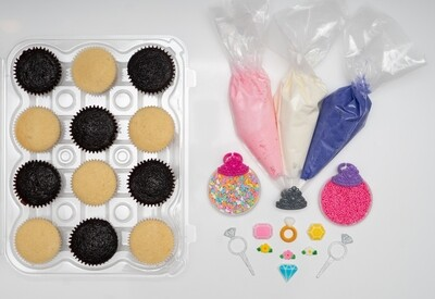 Princess Theme DIY Cupcake Decorating Kit