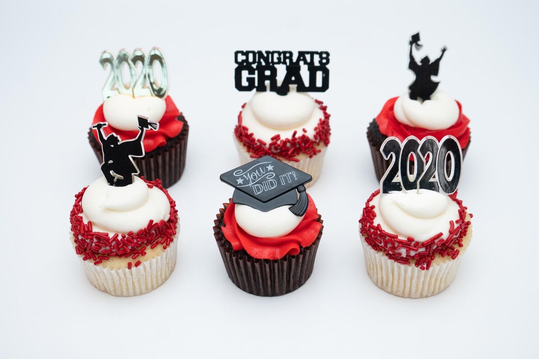 Graduation Half Dozen Cupcakes