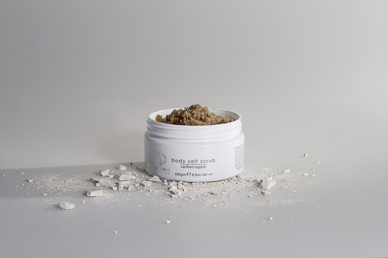 Organicspa body salt scrub 95.91% Certified Organic/100% Naturally Derived size 250gm