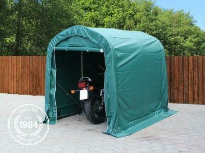 PVC PROFI  garaža - skladišče 1,6x2,4 m, 550 g / m² zelena/siva