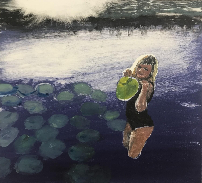 'Girl holding lilyleaf' 2020