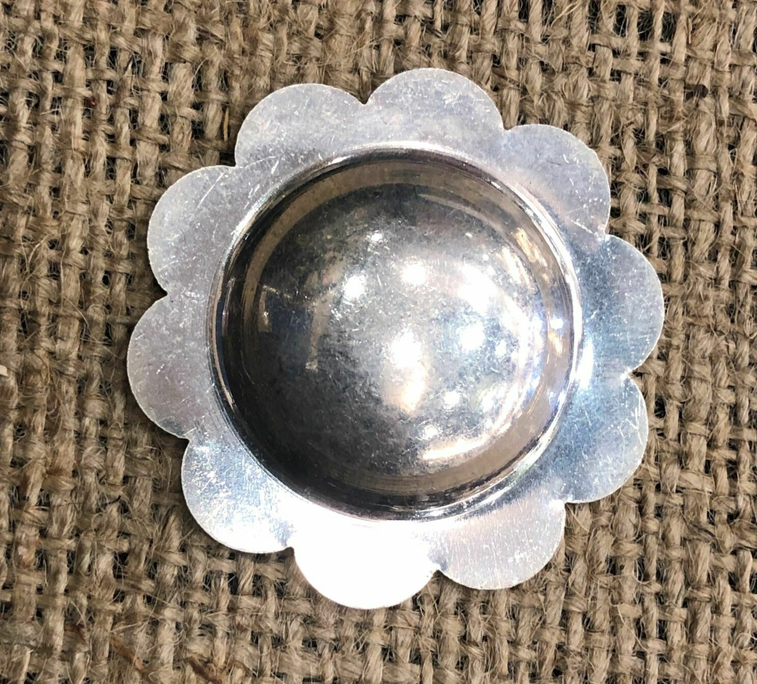 Concho Blank, Scalloped, Sterling Silver
