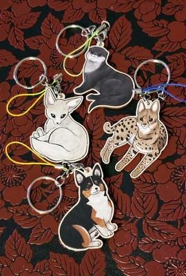 Animal wood charms