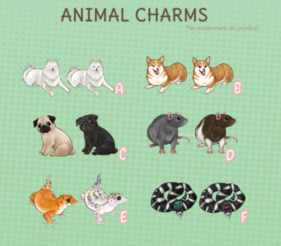*Discounted* Animal Charms