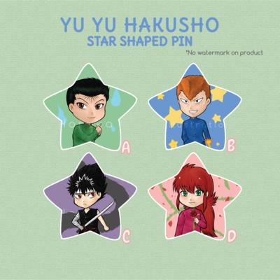 Yu Yu Hakusho Star buttons