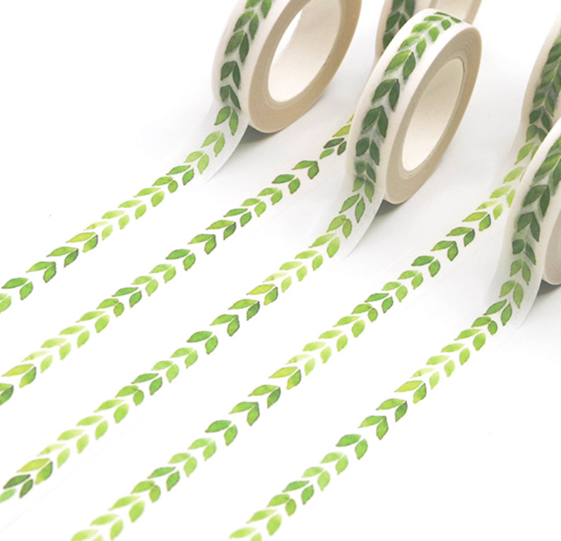 Green Leaves Washi Tape 10mm