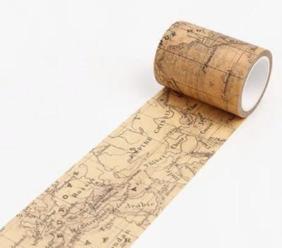 Vintage World Map Washi Tape 60mm
