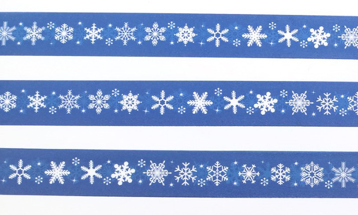 Midnight Snowflakes Washi Tape 15mm