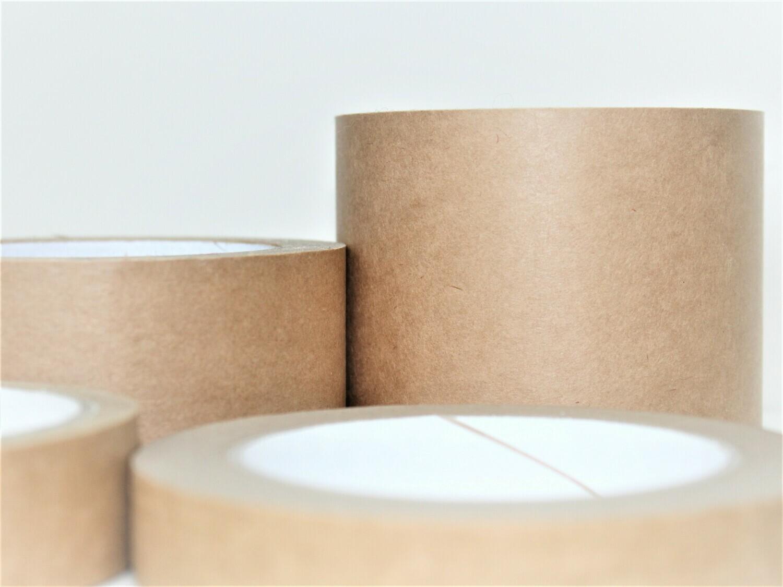 Brown Self Adhesive Paper Tape 75mm