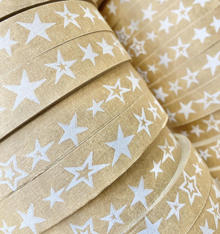 Stars Self Adhesive Brown Paper Tape  18mm