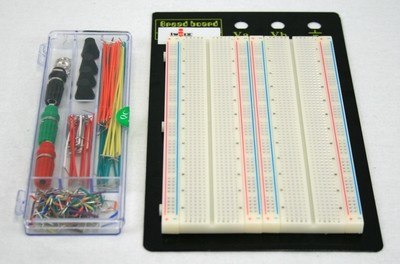 """Breadboard with Jumpers: board area of 6.5in x 4.25"""""""