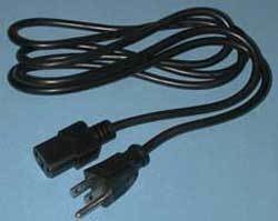 Power Cable with US Style Plug (6 ft.)