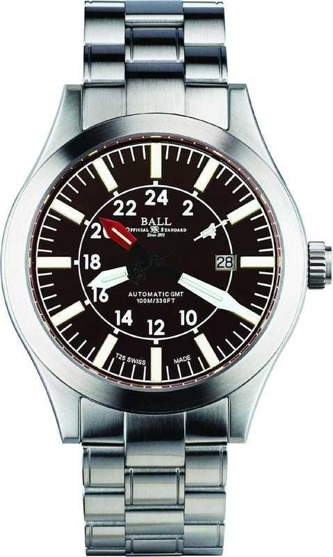 Ball Watch Engineer Master II Aviator GMT Brown Dial on Bracelet GM1086C-SJ-BR