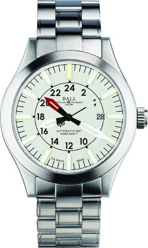 Ball Watch Engineer Master II Aviator GMT White Dial on Bracelet GM1086C-SJ-WH