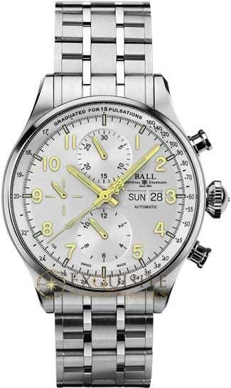 Ball Watch Trainmaster Pulsemeter Chronograph CM3038C-SJ-SL
