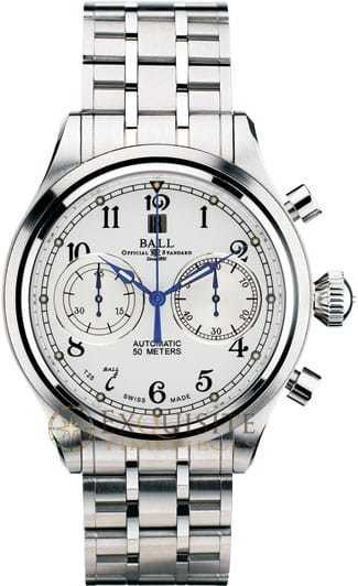 Ball Watch Trainmaster Cannonball Chronograph CM1052D-S3J-WH