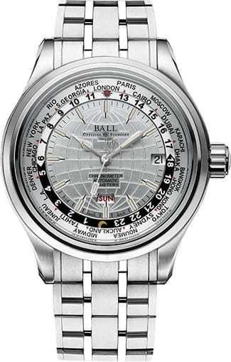 Ball Watch Trainmaster Worldtimer GM2020D-SC-WH