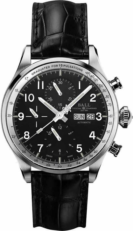 Ball Watch Trainmaster Pulsemeter Chronograph CM3038D-LFJ-BK