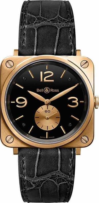 Bell & Ross BR-S Pink Gold Black Dial BRS-PKGOLD-BLACK-D