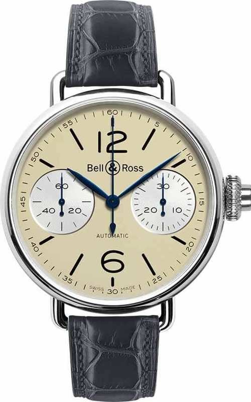 Bell & Ross WW1 Chronographe Monopoussoir Ivory BRWW1-MONO-IVO-SCR
