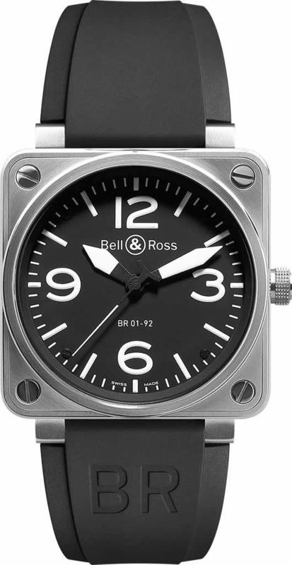 Bell & Ross BR01-92 Automatic Black Instrument BR0192-BL-ST