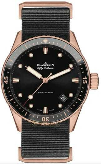 Blancpain Fifty Fathoms Bathyscaphe Ceramic insert and Ceragold 5000-36S30-NABA