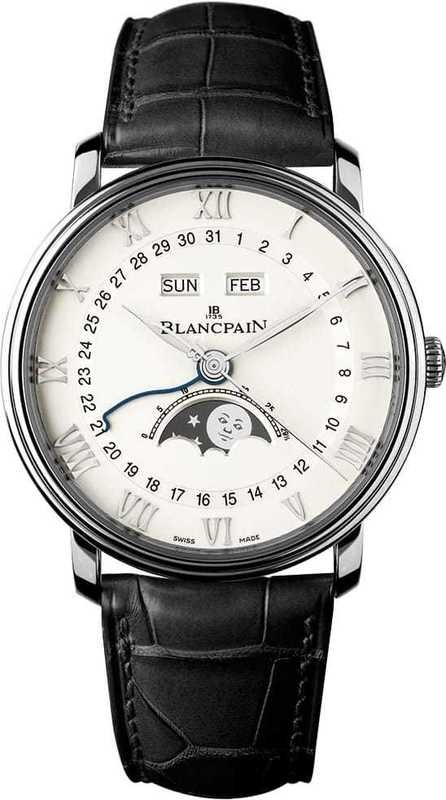 Blancpain Villeret Complete Calendar with Moon Phase in Stainless Steel 6654-1127-55B